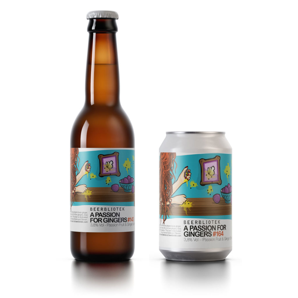 """A bottle and can of Beerbliotek Berliner Weisse """"A Passion for Gingers""""."""
